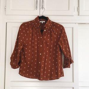 Madewell Raglan Peasant Shirt